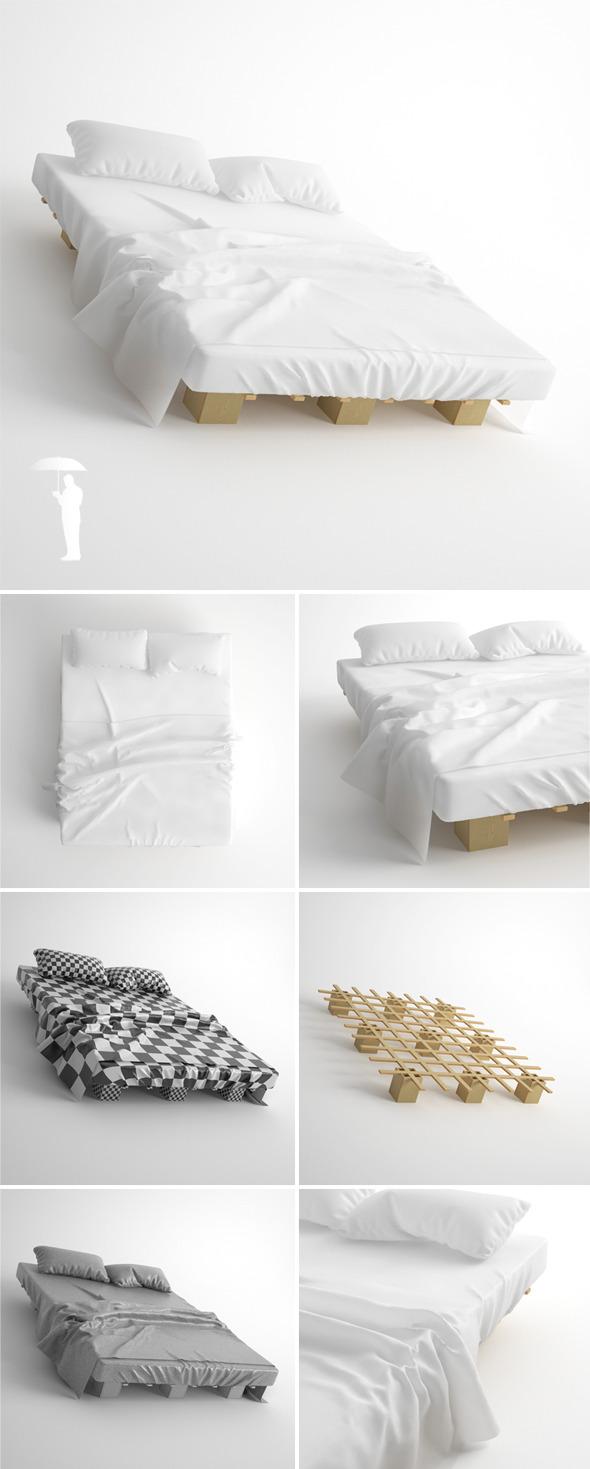 TOJO System Bed - 3DOcean Item for Sale
