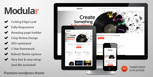 Modular - Responsive Multi-Purpose Wordpress Theme