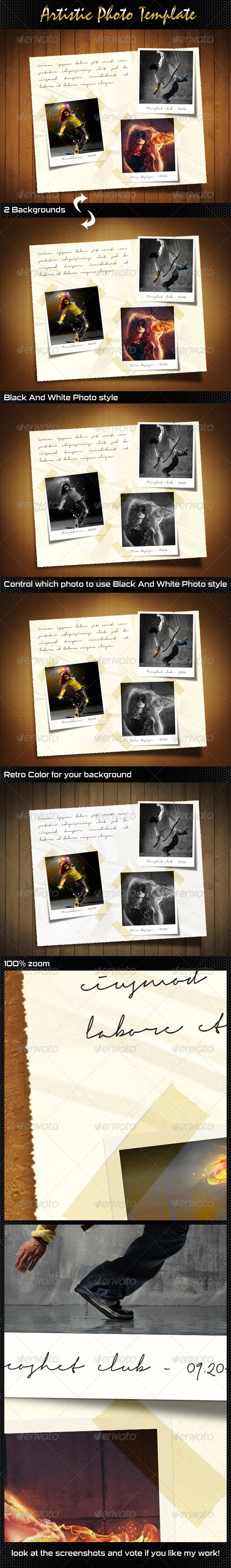 GraphicRiver Artistic Photo Template 5524911