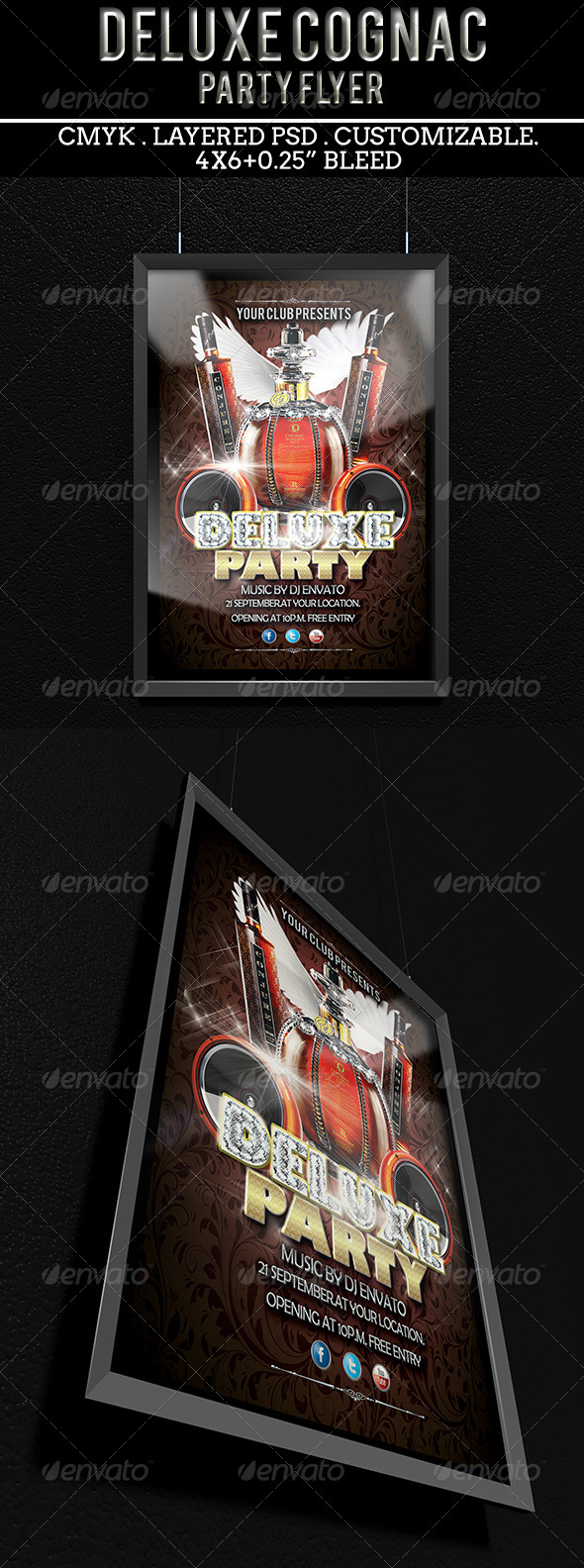 GraphicRiver Deluxe Cognac Party Flyer 5525117