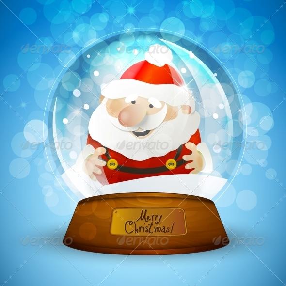 Christmas Snow Globe with Santa Claus