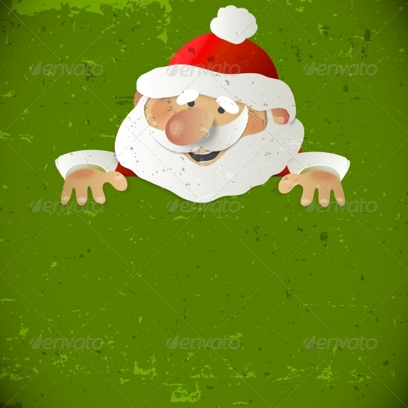 GraphicRiver Santa Claus with Place for your Text 5525177