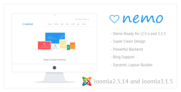 ThemeForest Nemo White Premium Joomla Template 5507845