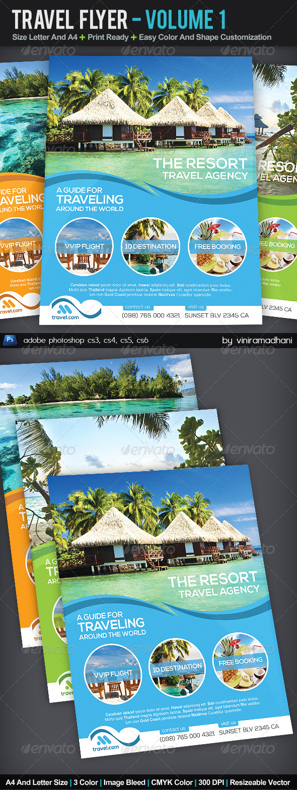 GraphicRiver Travel Flyer Volume 1 5526201