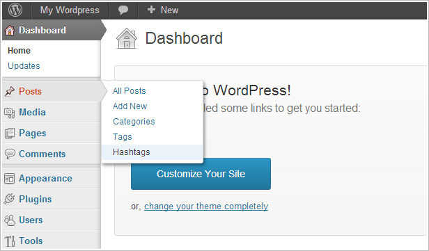 WordPress Hashtag Slideshow