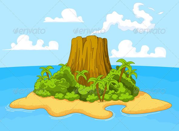 GraphicRiver Volcano Island 5526830