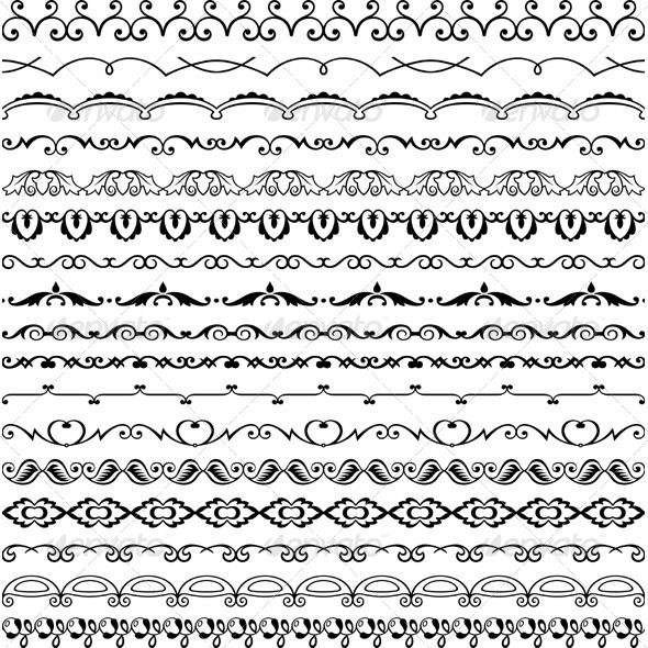 GraphicRiver Design Horizontal Elements 5526834
