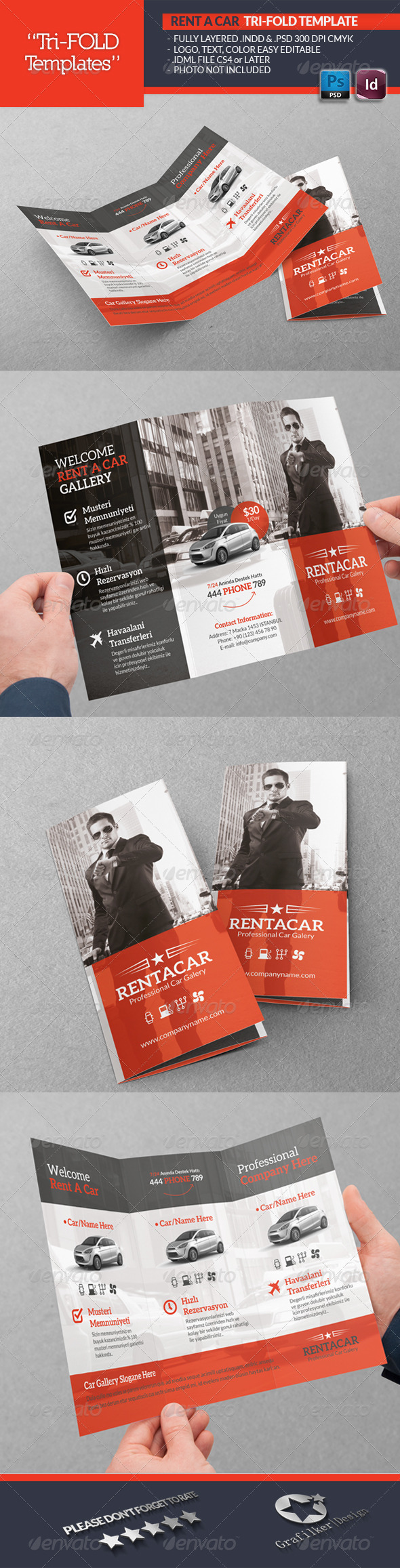 GraphicRiver Rent A Car Tri-Fold Template 5526922