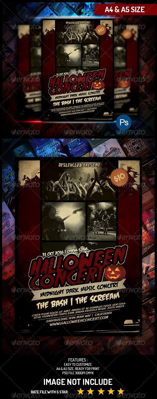 GraphicRiver Halloween Music Concert Flyer 5527060