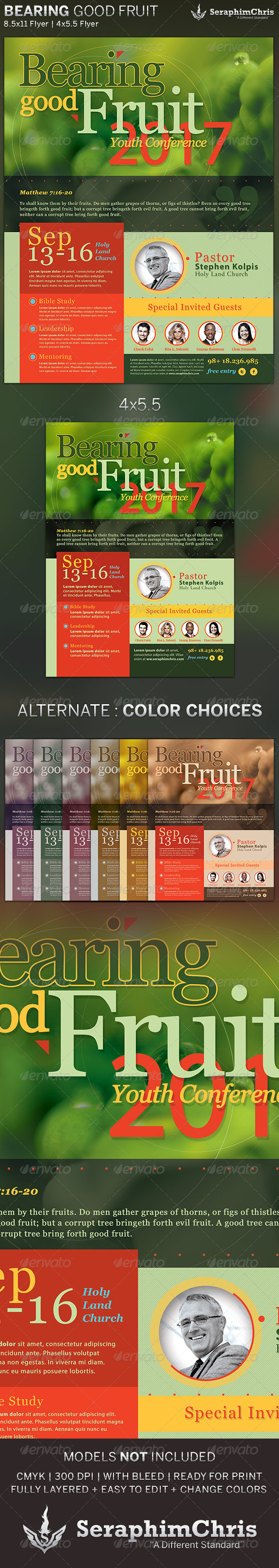 GraphicRiver Bearing Good Fruit Church Flyer Template 5527086