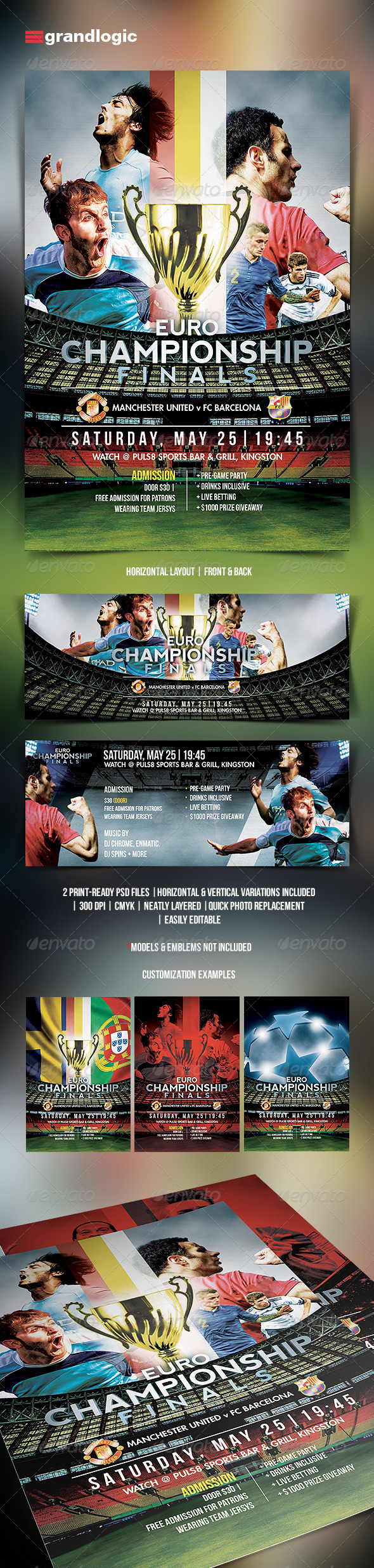 GraphicRiver Soccer Tournament Flyer 5527131