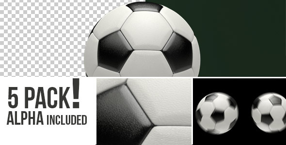 VideoHive Realistic Soccer Ball Set of 5 Renders 5527259