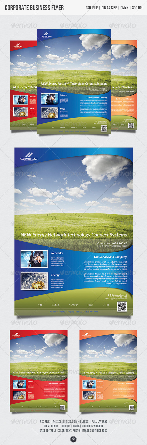 GraphicRiver New Energy Network Flyer 5527276