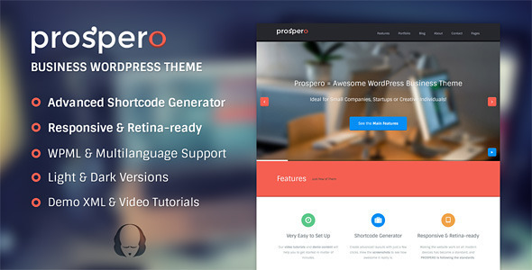 ThemeForest Prospero Business WordPress Theme 5515095