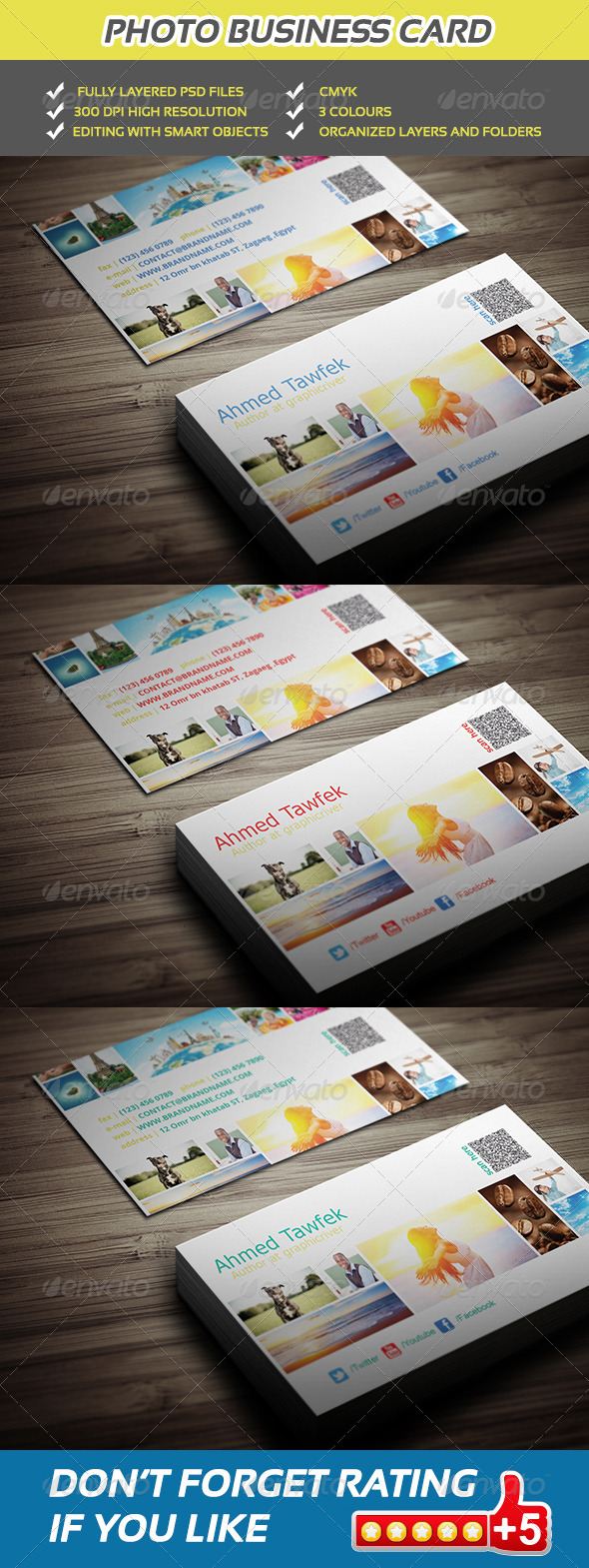 GraphicRiver Photo Business Card 5527816