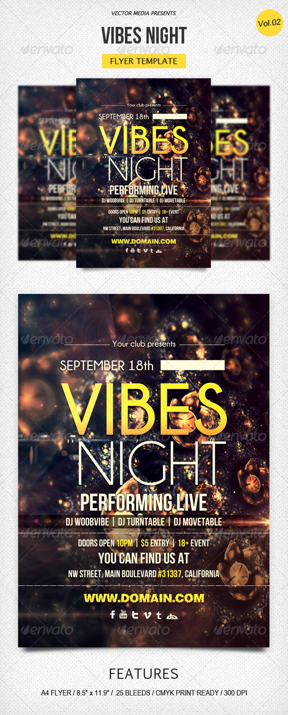 GraphicRiver Vibes Night Flyer [Vol.2] 5527828