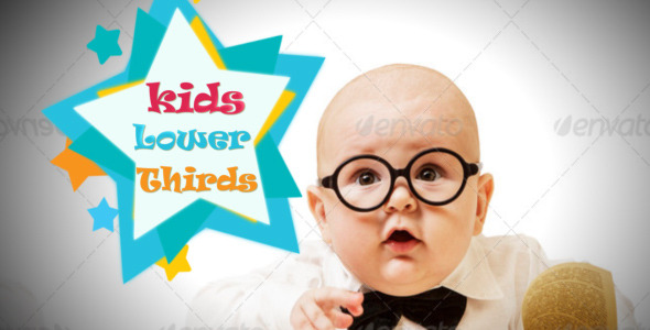VideoHive Kids Lower Thirds 5528267