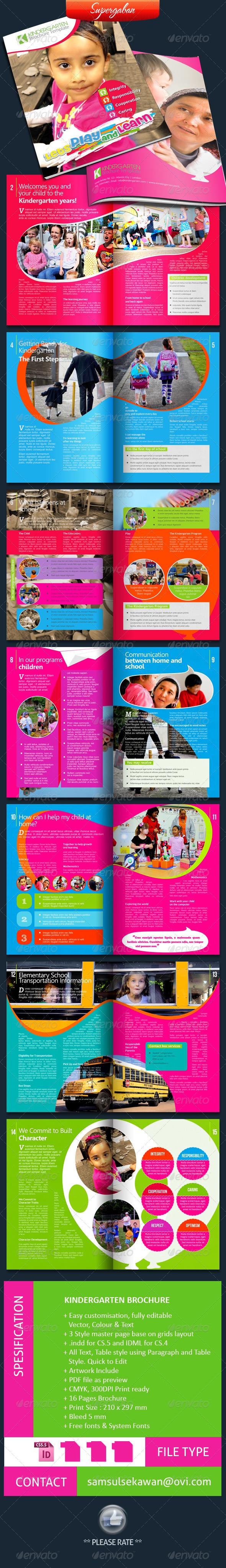 GraphicRiver 16 Pages Kindergarten Brochure 5496056