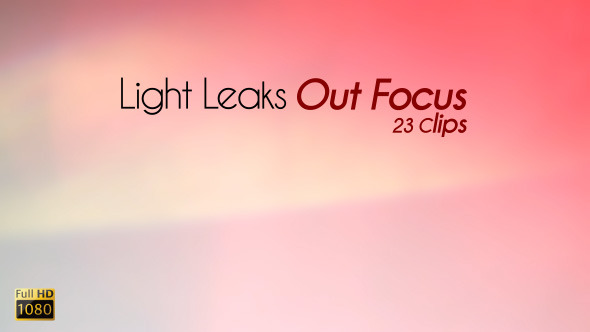 VideoHive Light Leaks Out Focus 5529022