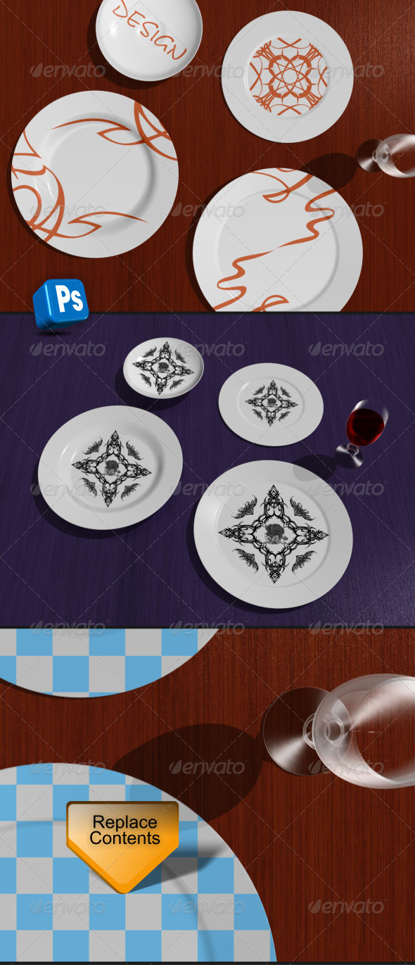 GraphicRiver Table and plates 5529031
