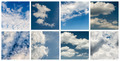 Blue Sky And Clouds Collage - PhotoDune Item for Sale
