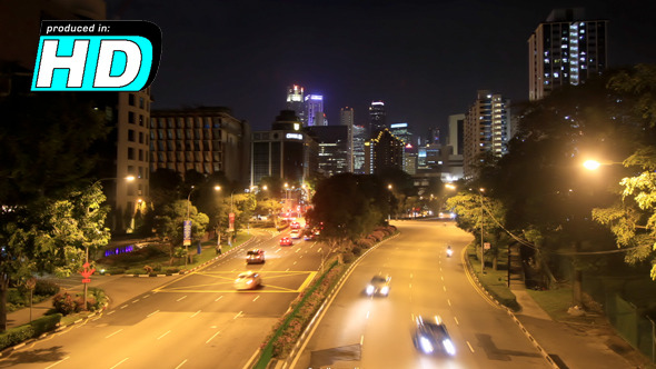 VideoHive City Road Cars Time Lapse Singapore 5529097