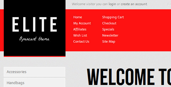 Elite Shop - OpenCart eCommerce