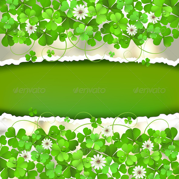 GraphicRiver Green Background with Clover 5529683