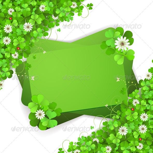 GraphicRiver Background with Clover 5530002