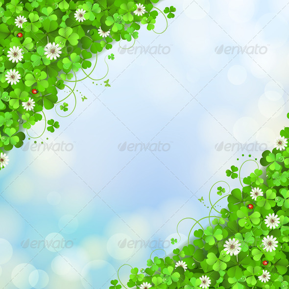 GraphicRiver Background with clover 5530060