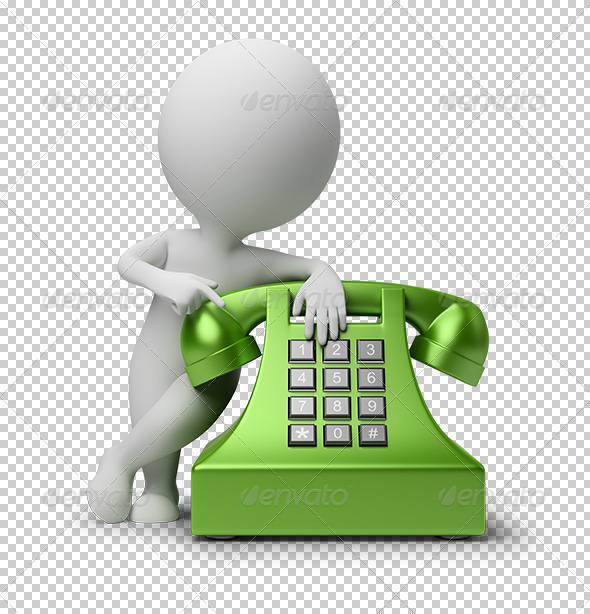 GraphicRiver 3D small people call by telephone 5530077