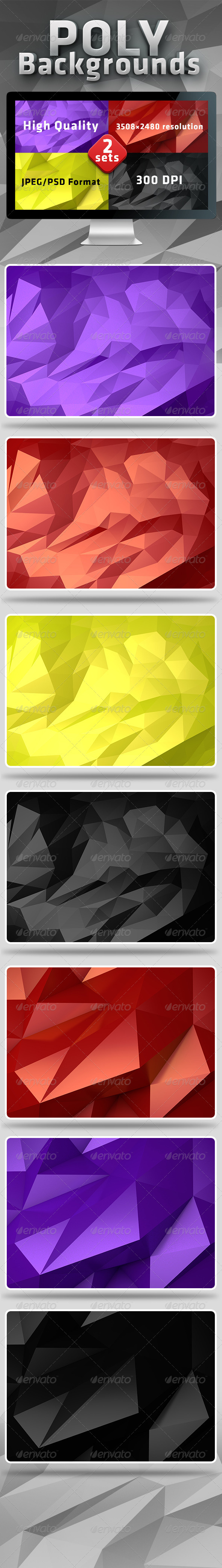 GraphicRiver Poly Backgrounds 5530094