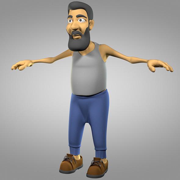 Cartoon old man - 3DOcean Item for Sale