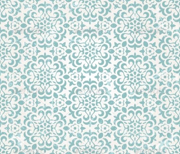 GraphicRiver Floral retro wallpaper 5530214