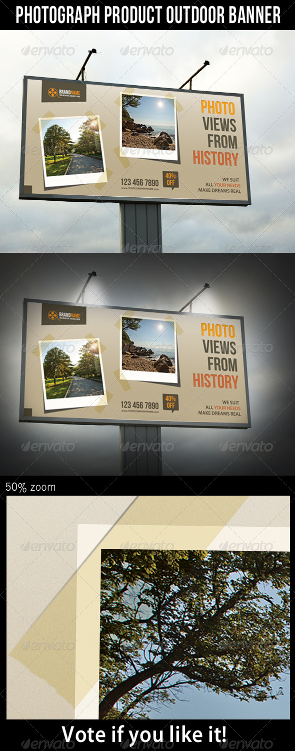 Photograph Product Outdoor Banner - Signage Print Templates