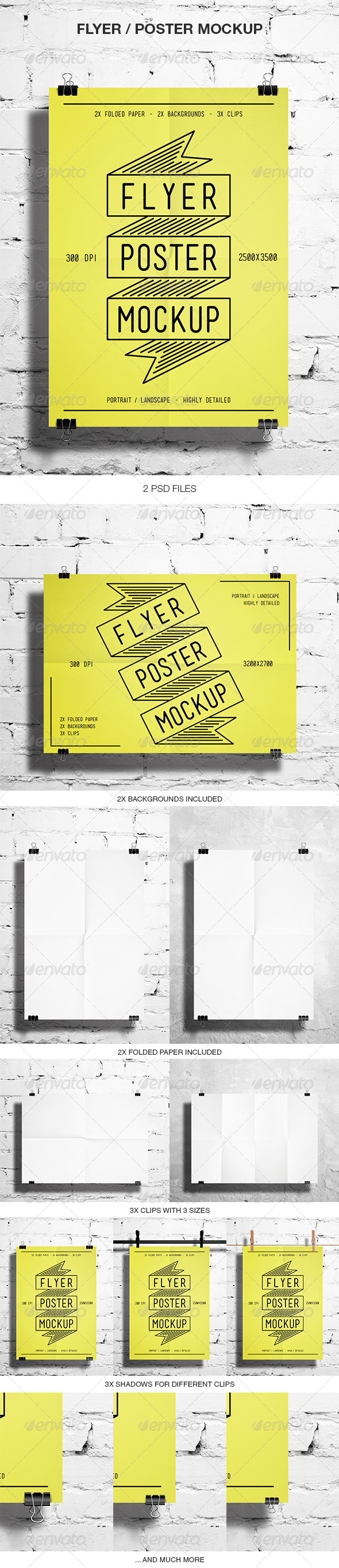 GraphicRiver Flyer Poster Mockup 5530803