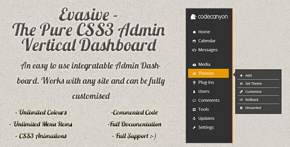 CodeCanyon Evasive Pure Flat CSS3 Admin Dashboard 5530875
