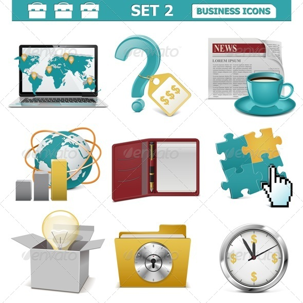 GraphicRiver Vector Business Icons Set 2 5530876