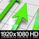 Green Profit Arrows Point Hight on 3D Graph - VideoHive Item for Sale