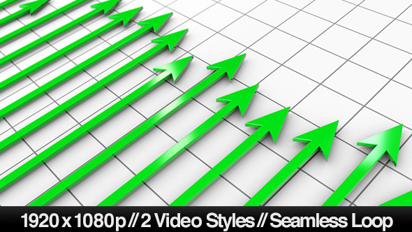 VideoHive Green Profit Arrows Point Hight on 3D Graph 5530920