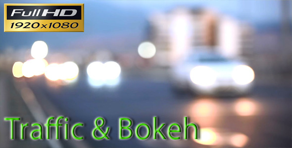 VideoHive Traffic Bokeh 5494021