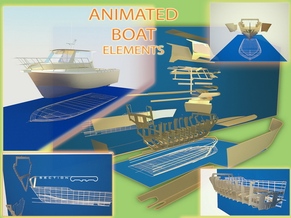 Animated elements of Boat Model - 3DOcean Item for Sale