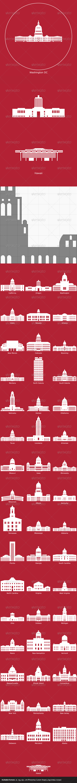 GraphicRiver US State Capitols 5531271