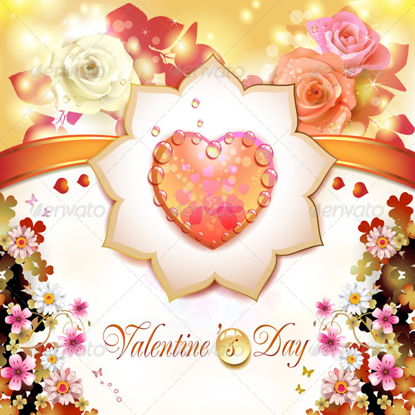 GraphicRiver Valentine s day card 5531455