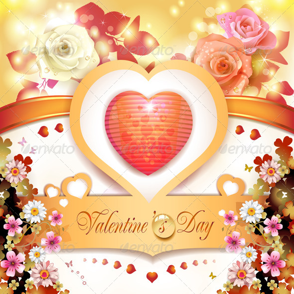 GraphicRiver Valentine s day card 5531485