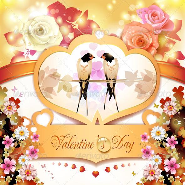 GraphicRiver Valentine s day card 5531506
