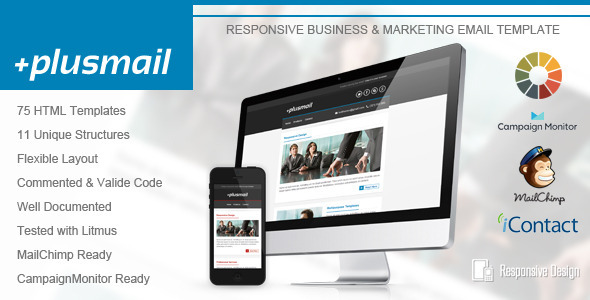 ThemeForest PlusMail Responsive Email Template 5531540