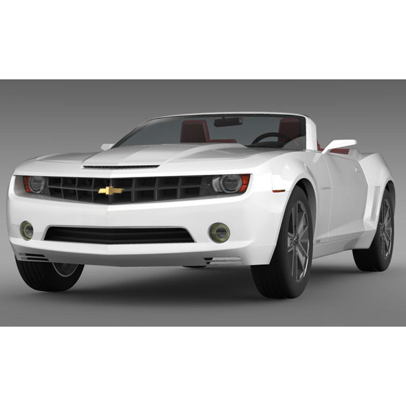 Chevrolet Camaro Convertible Concept - 3DOcean Item for Sale