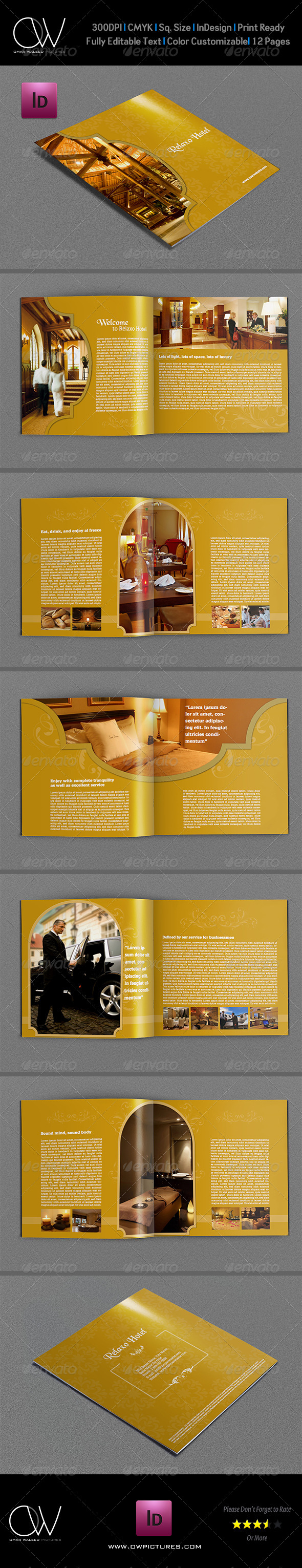 GraphicRiver Hotel and Motel Brochure Template 12 Pages 5531637