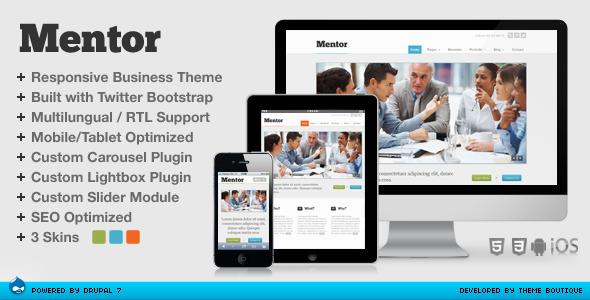 ThemeForest Mentor Responsive Drupal Theme 5531640